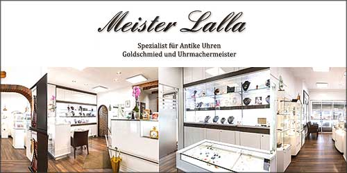 Meister Lalla Goldschmied und Uhrmachermeister in Hambugr